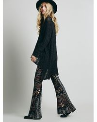 Free People - Multicolor Border Print Bell Bottoms - Lyst