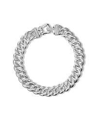David Yurman - Metallic Buckle Chain Necklace With Diamonds - Lyst