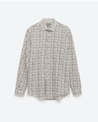Zara | Natural Print Shirt for Men | Lyst