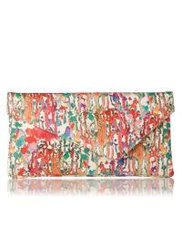 L.K.Bennett Multicolor Leonie Asymmetric Clutch Bag