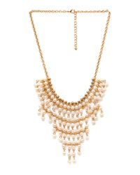 Forever 21 - Metallic On Point Bib Necklace - Lyst