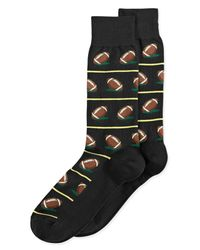 Hot Sox | Black Men's Football Socks for Men | Lyst