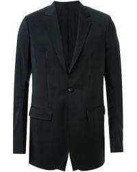 Thamanyah - Black Discolated Shoulder Blazer for Men - Lyst