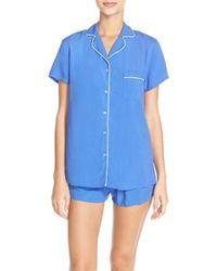 Splendid - Blue Classic Short Pajamas - Lyst