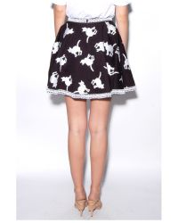 Elle Sasson - Black Tina Cat Skirt - Lyst