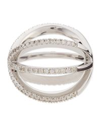 Roberto Coin Metallic 18K White Gold Diamond Double-Crisscross Ring