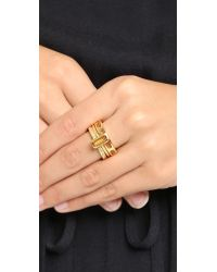 Astley Clarke Metallic Gem Stack Rings