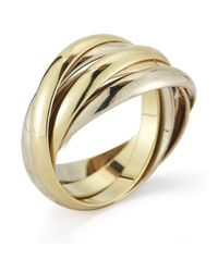 Cartier - Metallic Pre-Owned: 18K Tri-Color Five Band Ring - Lyst