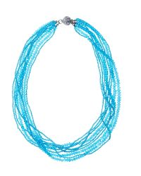 Jacques Vert | Blue Twisted Bead Necklace | Lyst