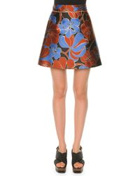 Marni | Natural Compact Cady Pencil Skirt | Lyst
