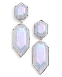 Kendra Scott | Blue 'perla' Drop Earrings | Lyst