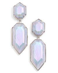 Kendra Scott - Blue 'perla' Drop Earrings - Lyst