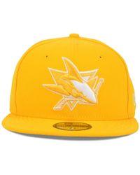 KTZ | Yellow San Jose Sharks C-dub 59fifty Cap for Men | Lyst