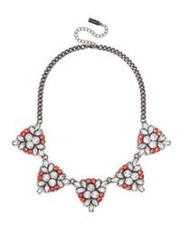 BaubleBar | Pink Crystal Holly Necklace | Lyst