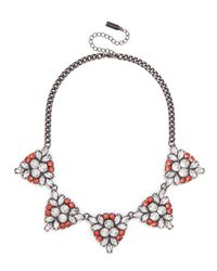BaubleBar - Pink Crystal Holly Necklace - Lyst