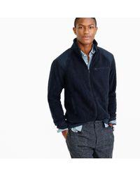 J.Crew Blue Tall Grizzly Fleece Full-zip Jacket for men