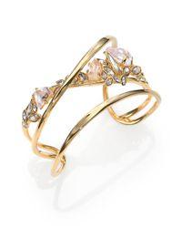 Alexis Bittar | Metallic Miss Havisham Liquid Crystal Broken Glass Cuff Bracelet | Lyst