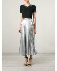 DKNY Black Pearl Embellished T-Shirt
