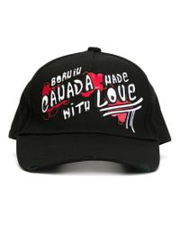 DSquared² | Black Born In Canada Print Baseball Cap for Men | Lyst