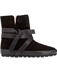 Étoile Isabel Marant | Black Women's Shearling-lined Nygel Boots | Lyst