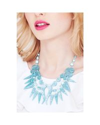 Tatty Devine Blue Sea Shell Swirl Necklace