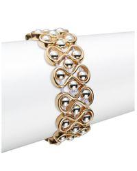 Catherine Stein | Metallic Beaded Infinity Stretch Bracelet | Lyst