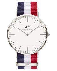 Daniel Wellington - Blue 'classic Cambridge' Nato Strap Watch - Lyst