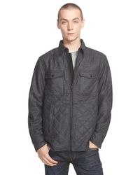 Rag & Bone - Gray 'grant' Quilted Wool Blend Shirt Jacket for Men - Lyst