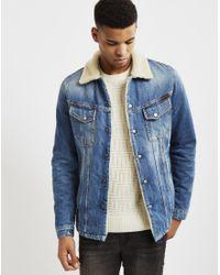 Nudie Jeans - Lenny Tangerine Blue Denim Jacket for Men - Lyst