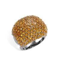 Michela - Metallic Pave Dome Ring - Lyst