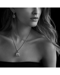 David Yurman - Metallic Cable Wrap Drop Earrings With Diamonds - Lyst