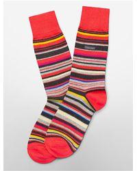 Calvin Klein - White Label Multicolored Stripe Socks for Men - Lyst