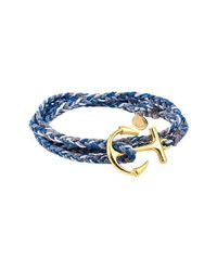 Pura Vida - Blue Anchor Wrap Bracelet - Lyst