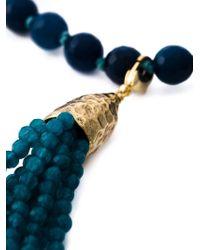 Rosantica | Blue Fringe Pendant Beaded Necklace | Lyst