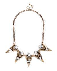 BaubleBar | Metallic Delta Battlestar Collar | Lyst