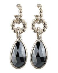 John Hardy | Metallic Bedeg Hematite Drop Earrings | Lyst