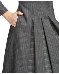 Brooks Brothers Gray Wool Pleated Dress