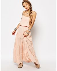 Free People Pink Valerie Solid Maxi Dress - Peach