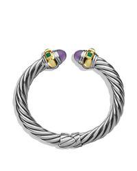 David Yurman Purple Green Onyx & Gold