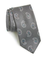 John W. Nordstrom Black 'evans' Paisley Silk Tie for men