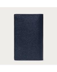 Bally Basteel Men's Leather Card Holder In New Blue for men