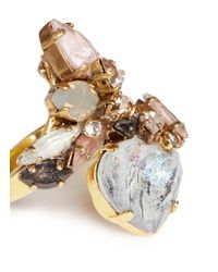 Erickson Beamon - Multicolor 'marchesa' Glitter Jewel Crystal Ring - Lyst