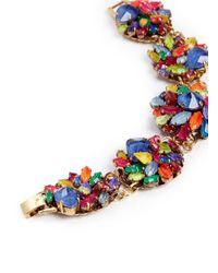 Erickson Beamon Multicolor 'Splash' Crystal Flower Bracelet