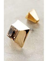 Sarah Magid | Metallic Cube Studs | Lyst
