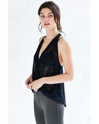 Kimchi Blue | Black Sleeveless Surplice Sweater | Lyst