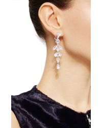 Nina Runsdorf - Metallic Diamond And Moonstone Earrings - Lyst