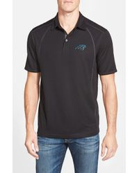 Tommy Bahama - Black 'firewall - Carolina Panthers' Short Sleeve Nfl Polo for Men - Lyst