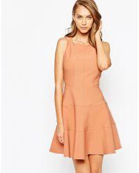 Closet - Orange Closet Panelled Skater Dress - Lyst
