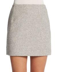 Atto - Gray Wool Mini Skirt - Lyst