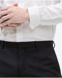 Zara | White Stretch Shirt With Double Cuffs for Men | Lyst